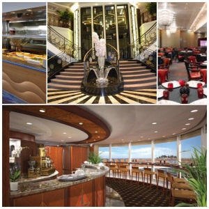 Marina barrista bar, restaurants, lalique staircase